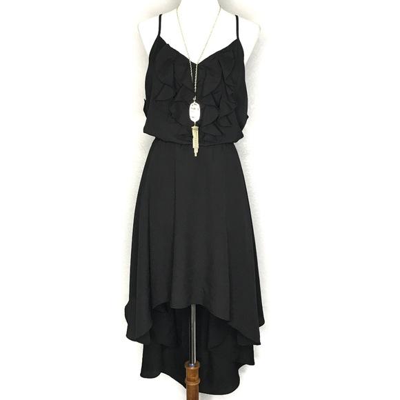 Bisou Bisou Dresses & Skirts - Bisou Bisou Black Spaghetti High Low Dress A010472